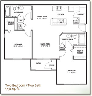 The Villages, FL Apartments - Two Bedroom Two Bath